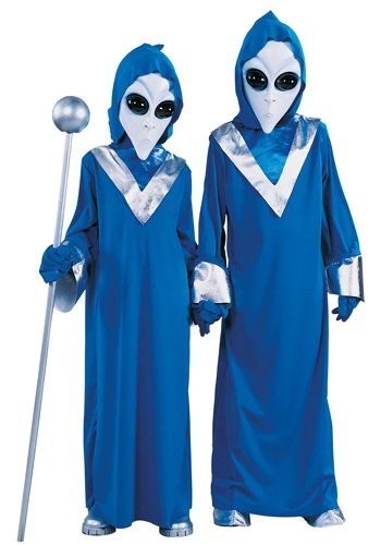 Deep Space Blue Alien Kids Costume