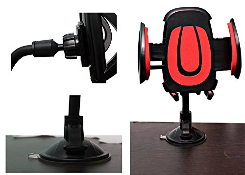 ECellStreet 360° Degree Rotation Suction Cup Car Windshield Mobile Phone Holder Bracket Mount For Samsung Galaxy...