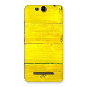 Enticing Yellow Backyard Back Case Cover for Micromax Canvas Juice 3 Q392
