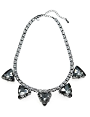 M&S Collection Triangle Diamanté Necklace