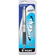 Pilot Dr. Grip Center of Gravity 0.7mm Mechanical Pencil, Charcoal Gray Barrel, 1-Count (36280)