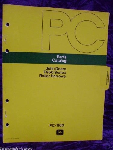 John Deere F950 Roller Harrows Oem Parts Manual