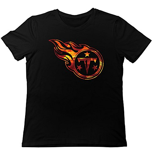 TonyGray Men's Funny Tennessee Titans Proline Fire Collection T-shirt Black XXL (Proline Titan compare prices)