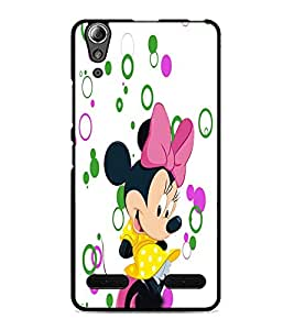 PrintDhaba Minnie D-3481 Back Case Cover for LENOVO A6000 PLUS (Multi-Coloured)