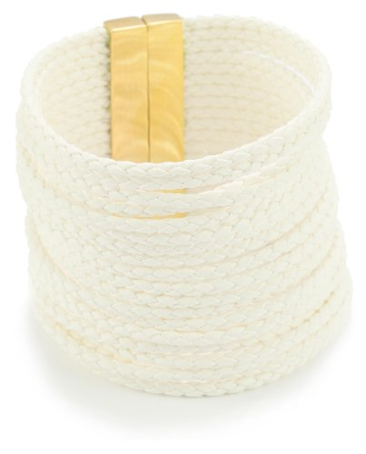 Accessories & Beyond Thick Leather Strand Cuff