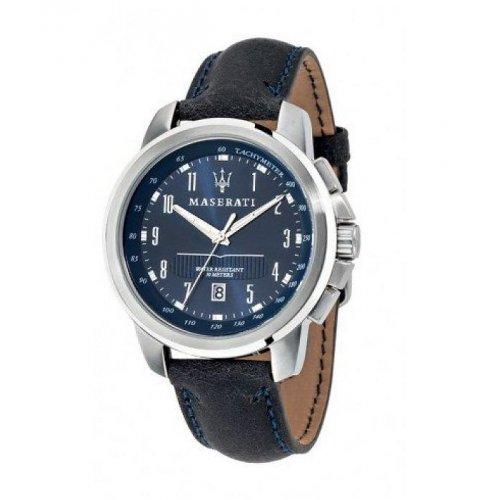 Reloj Maserati R8851121003 Hombre Azul Piel Taquímetro