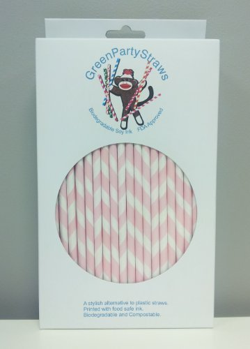 Paper Straws Box of 144 Pink