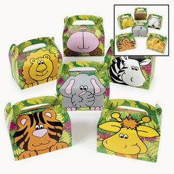 Fun Express Cardboard Zoo Animal Treat Box (Pack of 12) - 1