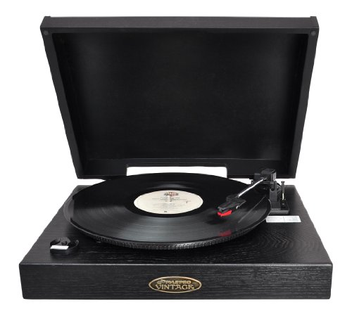 Pyle Home PVNTT1B Classic Retro USB-To-PC Phonograph/Turntable with Aux-Input Jack (Black)
