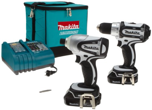 Makita LCT200W 18Volt Compact LithiumIon Cordless 2Piece Combo Kit