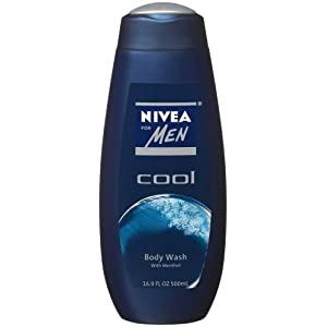 Nivea For Men, Cool, Hair and Body Wash, 16.9-Ounce Bottle (Pack of 3)