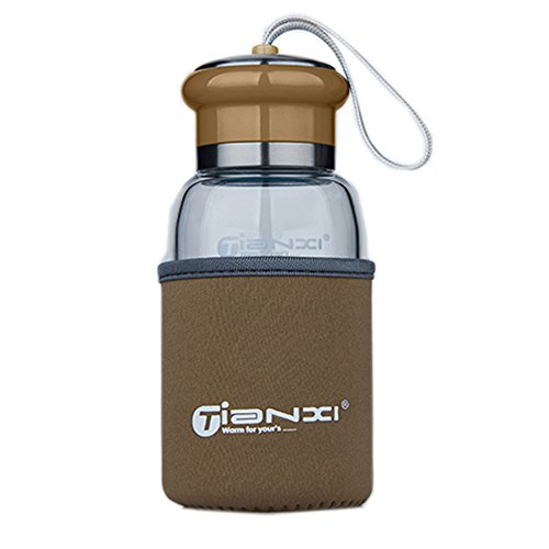 Cute Fashional Water Bottle For Kids Portable Bottle\300ML Mike Coffee Color