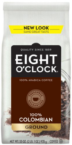 Eight O'Clock Coffee, 100% Colombian Ground, 33-Ounce Bag