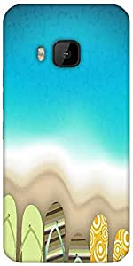 Snoogg Abstract Summer Background Designer Protective Back Case Cover For HTC M9