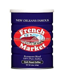 French Market Coffee, Dark Roast, 12-ounce Can