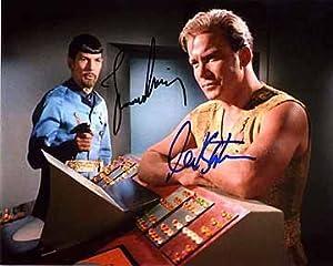 STAR TREK TOS (William Shatner & Leonard Nimoy) 8x10 Cast Photo Signed In-Person
