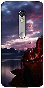 Snoogg Alaskan Dawn Designer Protective Back Case Cover For Motorola Moto X Play