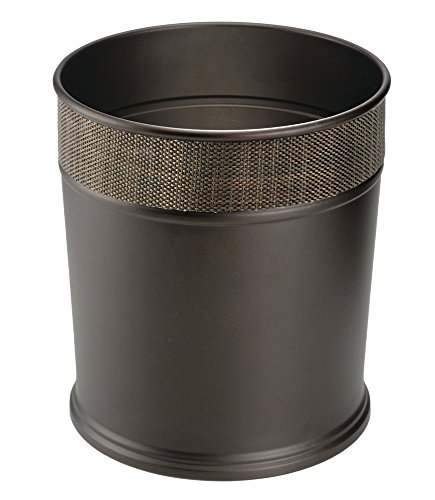 mDesign Steel Wastebasket Trash Can - Bronze (Decorative Trash Can compare prices)