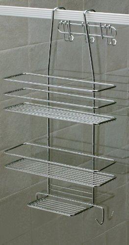 Satina - Étagère de douche Chromé 55 x 30 cm