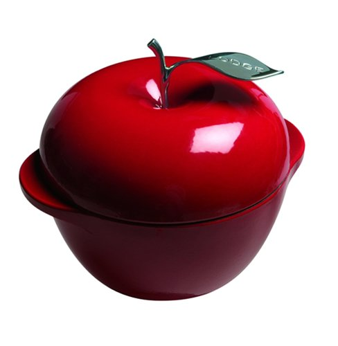 Lodge Enamel on Cast-Iron 3 Quart Apple Pot, Red - Buy Lodge Enamel on Cast-Iron 3 Quart Apple Pot, Red - Purchase Lodge Enamel on Cast-Iron 3 Quart Apple Pot, Red (Lodge, Home & Garden, Categories, Kitchen & Dining, Cookware & Baking, Baking, Bakers & Casseroles)