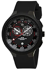 Rip Curl Men's A1103 - BLK K38 Tidemaster Silicone Black Analog Tide Surf Watch