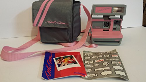 Vintage Polaroid Pink & Gray Cool Cam 600 Instant Camera 0