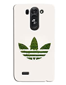 Blue Throat Lotus Sign With Grass Printed Designer Back Cover/Case For LG G3 Beat
