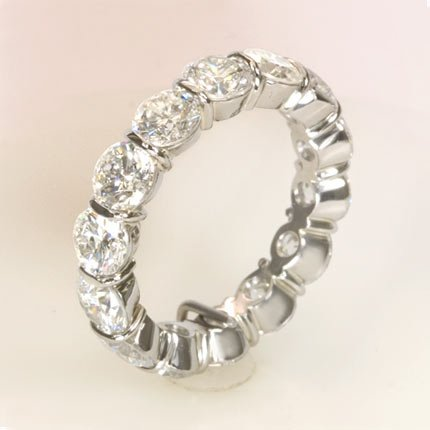 5.84 ct Round Diamond Eternity style Wedding