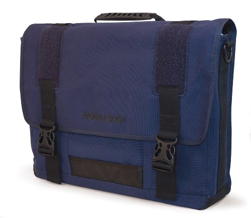 Eco-Friendly Canvas Messenger Bag 17.3-Inch (Blue)
