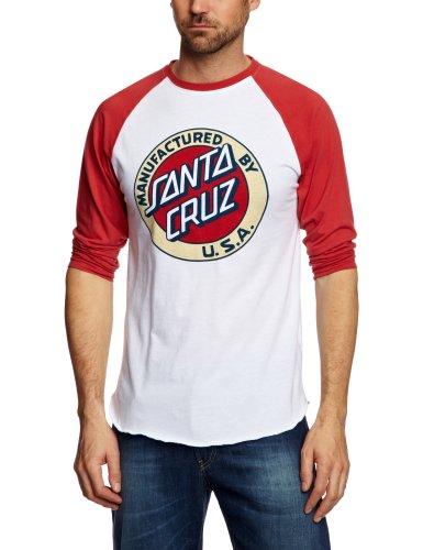 Santa Cruz MF Dot Baseball Printed Men's T-Shirt Barn Red/White X- Large