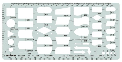 Gong pass template E408 flowchart ruler B 31408 (japan import)