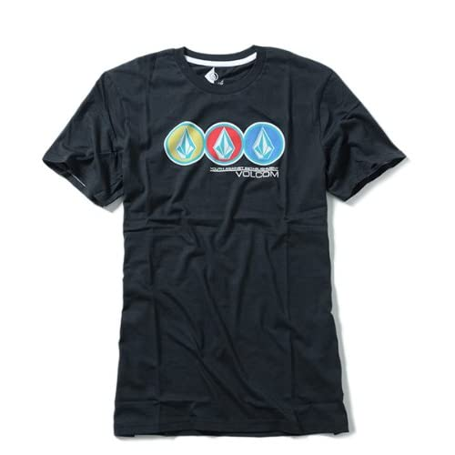 VOLCOM v.co-logical ボルコム メンズ Tシャツ TRAY STONE S/S TEE 並行輸入品 (L, 2.Black)