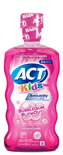 ACT Kids Anticavity Fluoride Mouthwash, Bubble Gum Blow Out