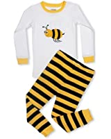 """Leveret Little Girls """"Bumble Bee"""" 2 Piece Pajama 100% Cotton (2-8 Years)"""