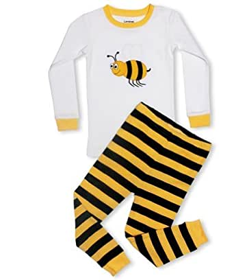 "Leveret Baby Boys, Girls ""Bumble Bee"" 2 Piece Pajama 6-12 Months"