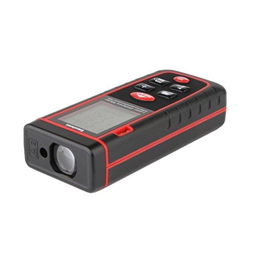 Excelvan RZS40 - Medidor Laser de Distancia LCD (0.05 - 40m, 131 pies, M FT IN, Distancia, Área, Volumen, Alta y Rápida Precisión, Medición Continua) (Distancia 40M)
