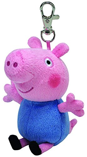 Ty Beanie Peppa Pig - George Keyclip Keychain