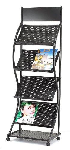 M&G JH1328 Magazine Rack, Black