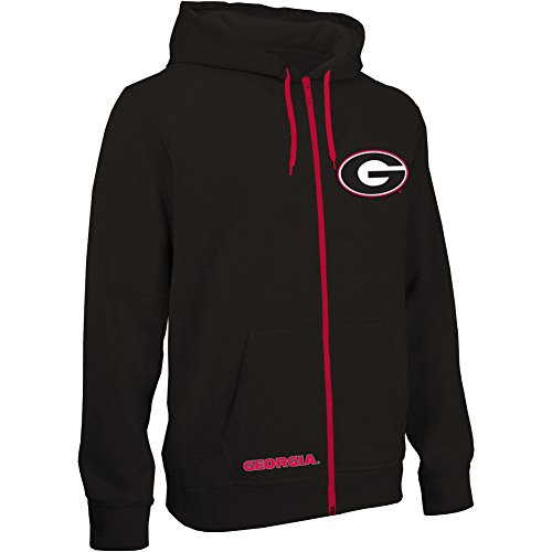 Georgia Bulldogs Zip Up Hooded Sweatshirt Black - XL (Georgia Bulldogs Mens Hoodie compare prices)
