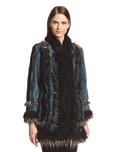 Anna Sui Women's Ombre Faux Fur Coat