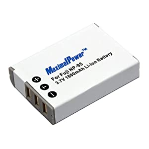 MaximalPower DB FUJ NP-95 Replacement Battery for Fujifilm FinePix X100, F30, F31fd, Real 3D W, Fully Decoded w 3yr warranty