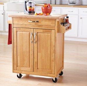 amazon com mainstays kitchen island cart natural this stylish oak kitchen island with breakfast bar also mini