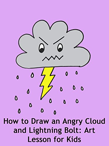 How to Draw an Angry Cloud and Lightning Bolt: Art Lesson for Kids