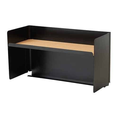 ikea bekant schreibtisch obersten regal schwarz 60 32. Black Bedroom Furniture Sets. Home Design Ideas