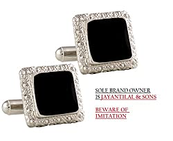 TRIPIN Black Silver Square Shaped Cufflinks In RED COLOUR TRIPIN BRANDED BOX ONLY.