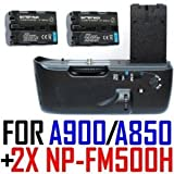 Battery Grip VG-C90AM for Sony ? (Alpha) DSLR-A900 /A850 Digital Camera + Two (2x) NP-FM500H Lithium Ion Batteries