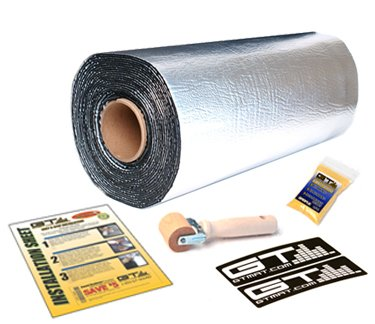 Best  GTMAT 110 25 sqft Automotive Sound Insulation 110mil Super Thick- Noise Rattle Eliminator Deadener Dampening Installation Kit Includes: 25sqft Roll (36 in x 8'16