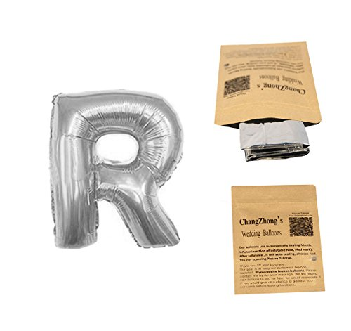 "Helium Foil letters balloons ,birthday holidays weddin party supply Silver 40""R"