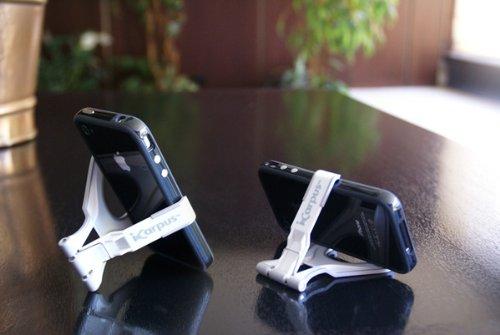 iPhone他スマートフォン対応スタンド「icarpus(アイカーパス)」 (ホワイト)
