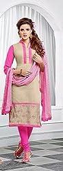 V-Kart Women's Cotton Unstitched Dress Material (Vkart_353_Pink_Free Size)